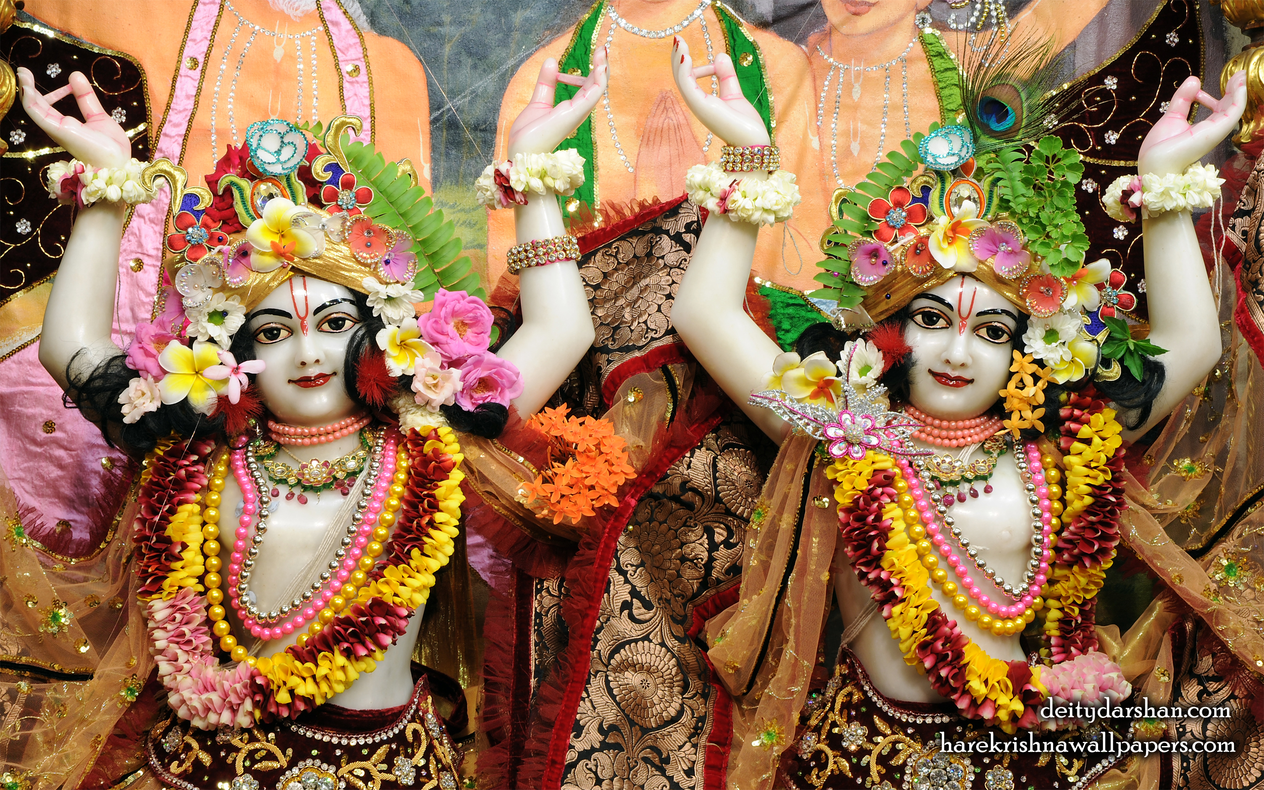 Sri Sri Nitai Gaurachandra Close up Wallpaer (022) Size 2560x1600 Download