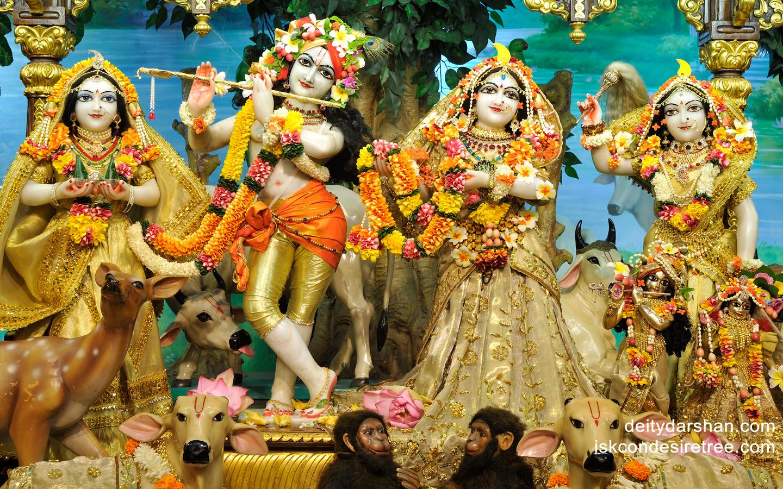 Sri Sri Radha Gopinath Lalita Vishakha Wallpaper (023) Size 1440x900 Download