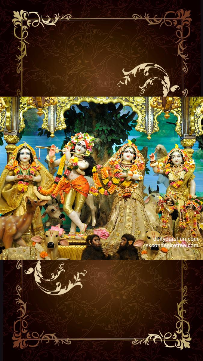 Sri Sri Radha Gopinath Lalita Vishakha Wallpaper (023) Size 675x1200 Download