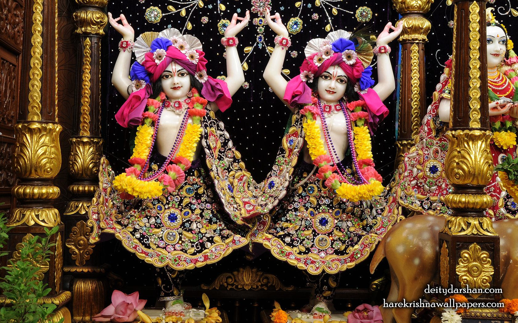 Sri Sri Nitai Gaurachandra Wallpaer (024) Size 1680x1050 Download