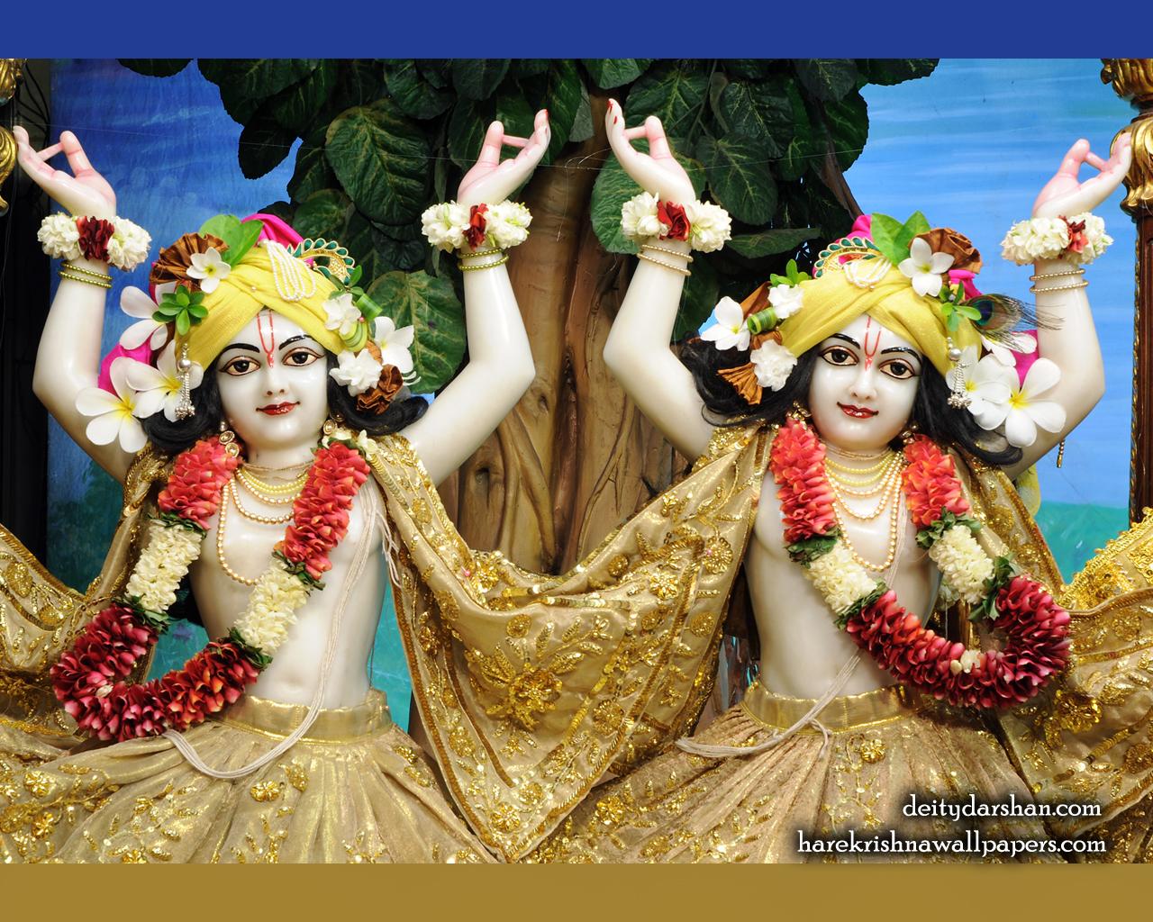 Sri Sri Nitai Gaurachandra Close up Wallpaer (024) Size 1280x1024 Download