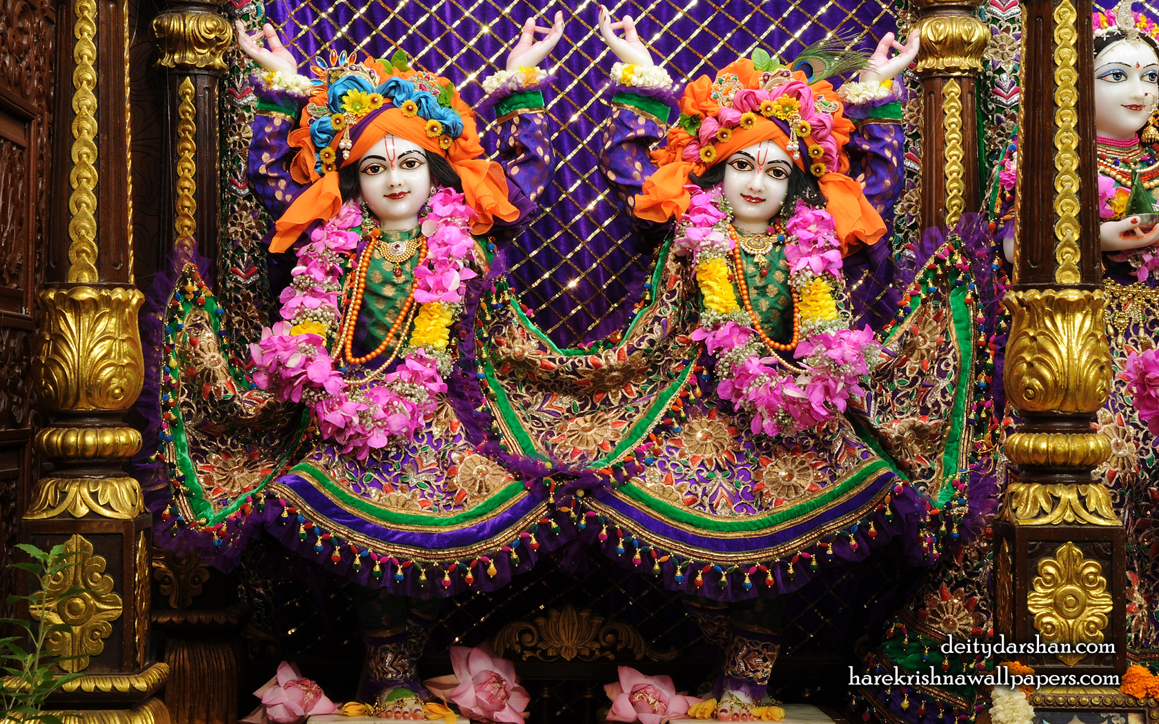 Sri Sri Nitai Gaurachandra Wallpaer (025) Size 1680x1050 Download