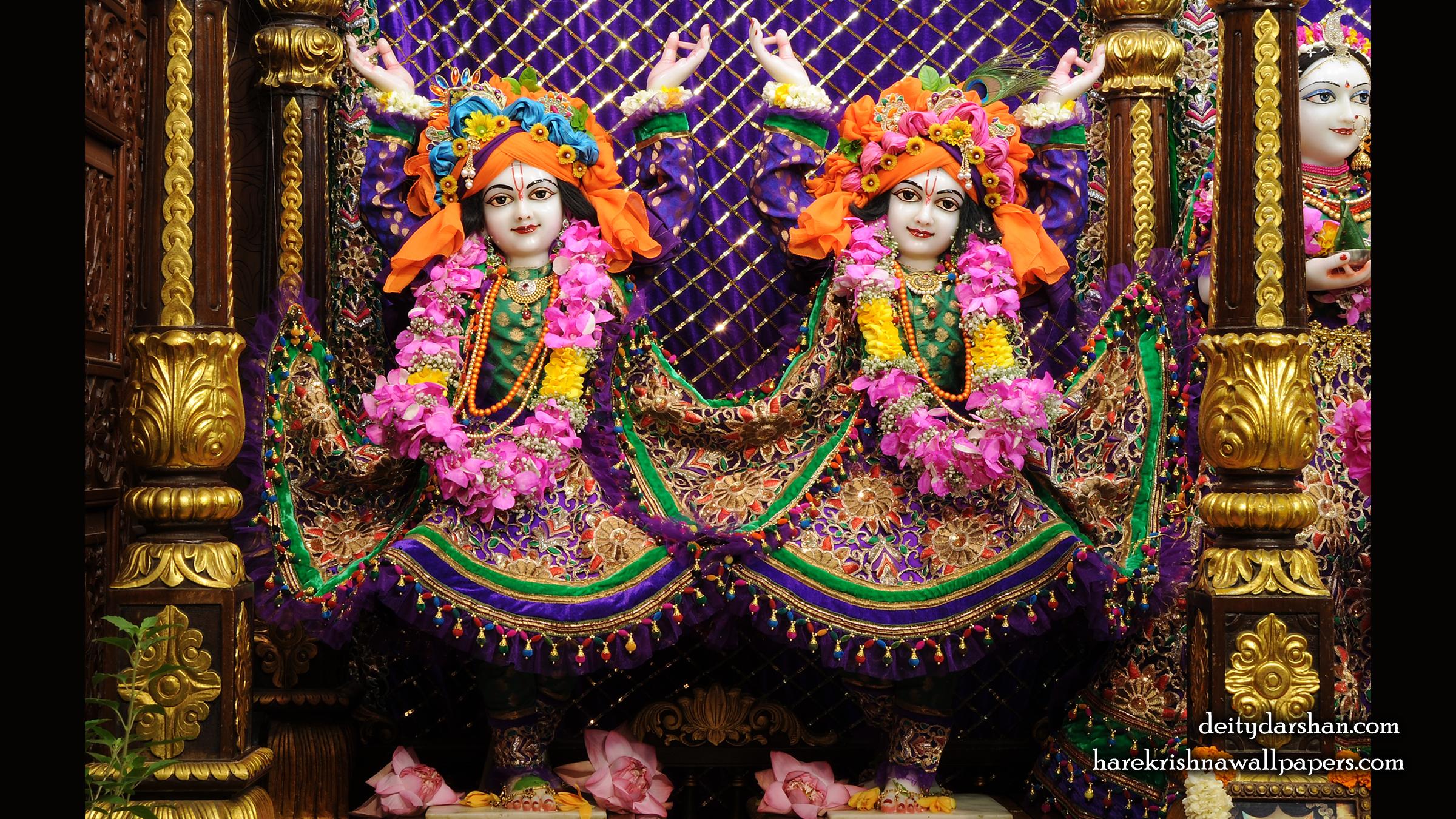 Sri Sri Nitai Gaurachandra Wallpaer (025) Size 2400x1350 Download