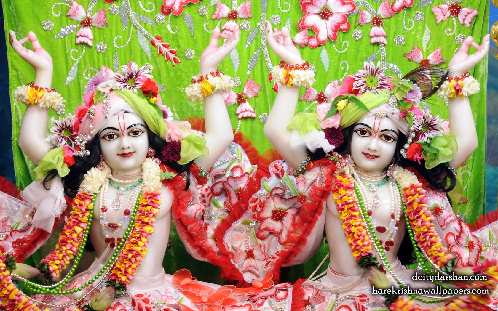 Sri Sri Nitai Gaurachandra Close up Wallpaper (025) Size 1680x1050 Download