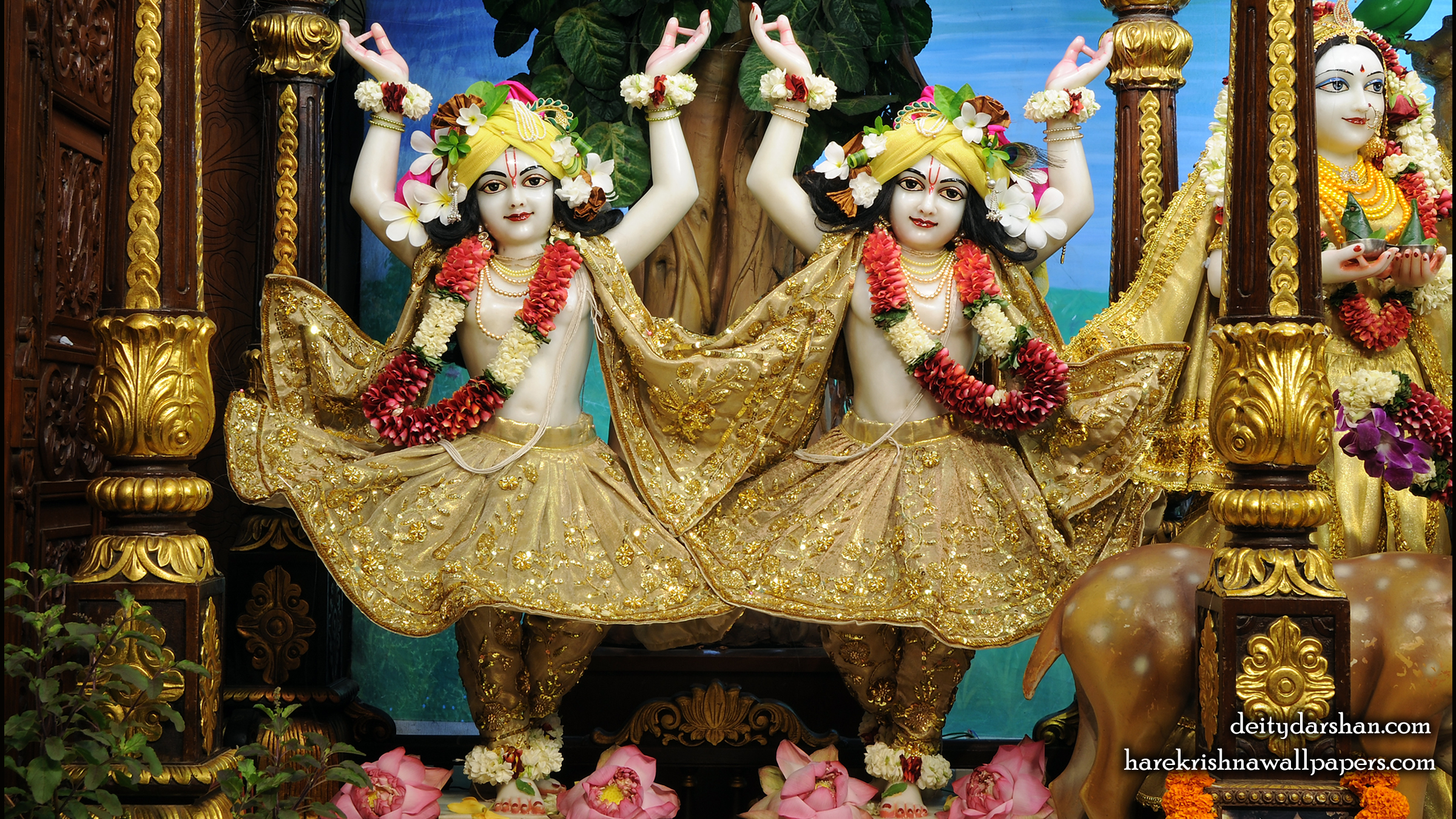Sri Sri Nitai Gaurachandra Wallpaer (026) Size 2400x1350 Download
