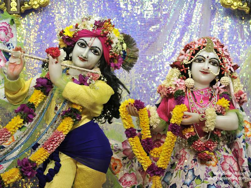 Sri Sri Radha Gopinath Close up Wallpaper (033)