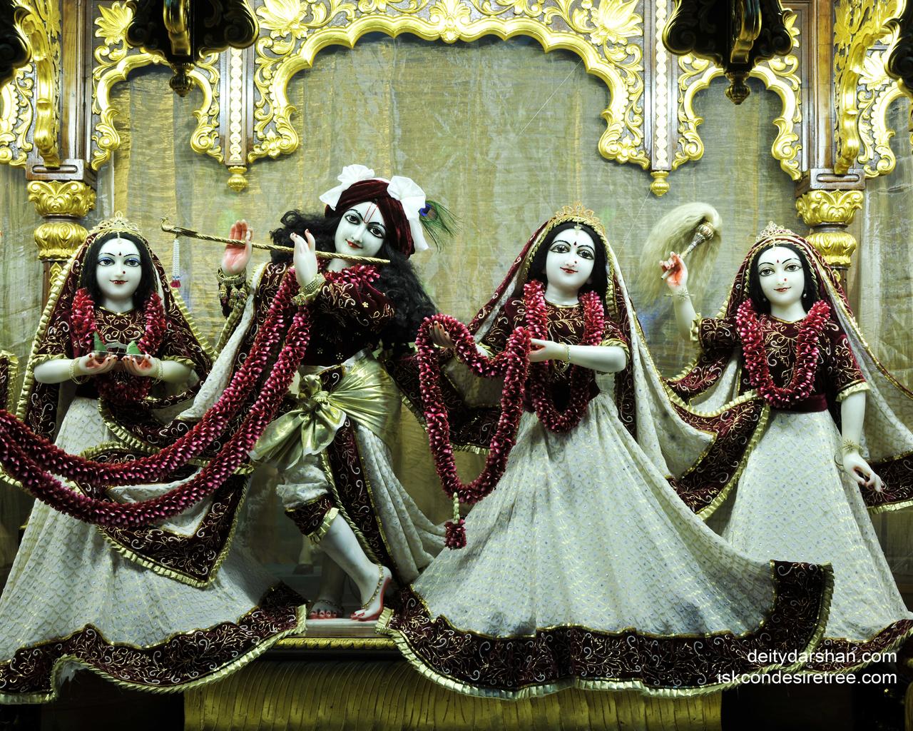 Sri Sri Radha Gopinath Lalita Vishakha Wallpaper (035) Size 1280x1024 Download