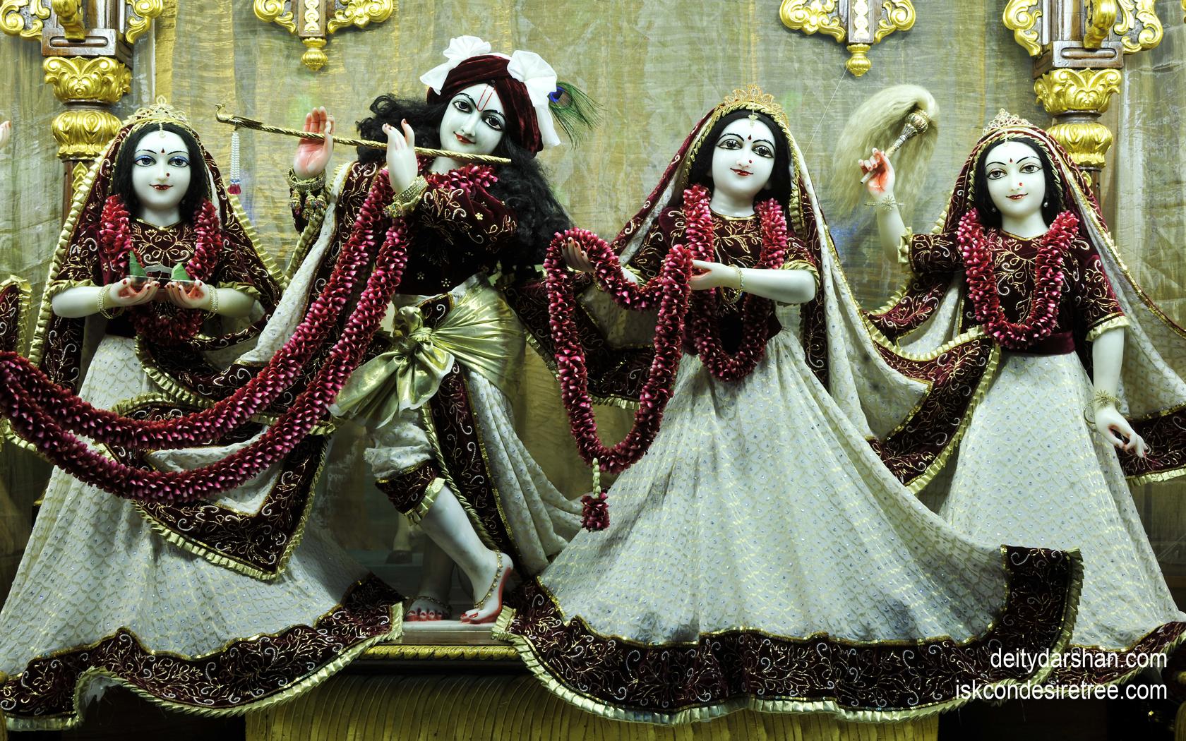 Sri Sri Radha Gopinath Lalita Vishakha Wallpaper (035) Size 1680x1050 Download