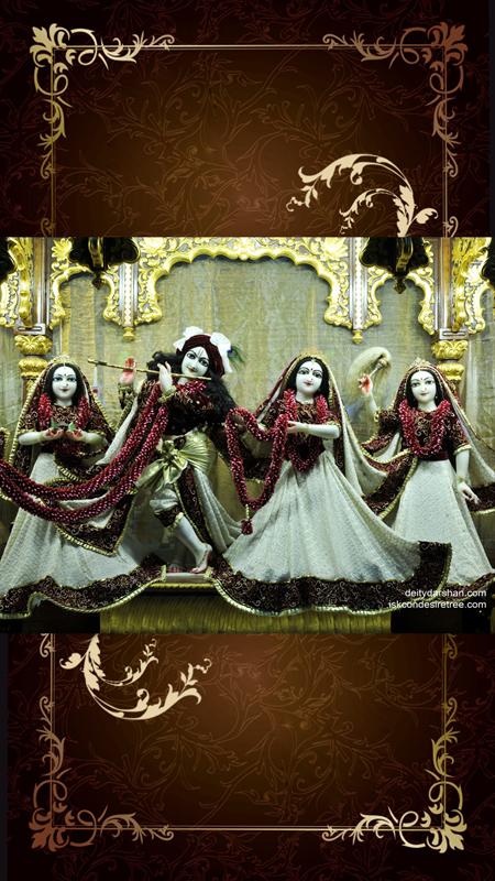 Sri Sri Radha Gopinath Lalita Vishakha Wallpaper (035) Size 450x800 Download