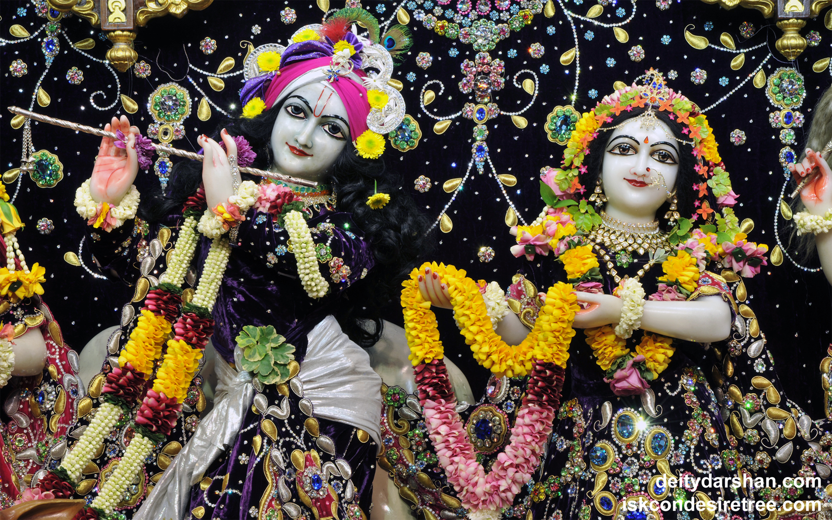 Sri Sri Radha Gopinath Close up Wallpaper (038) Size 1680x1050 Download