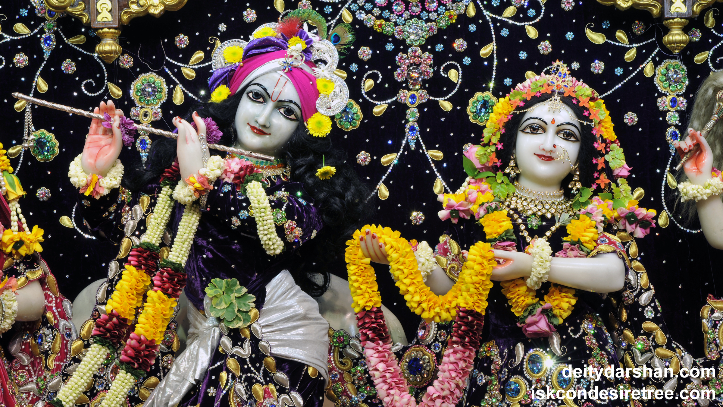 Sri Sri Radha Gopinath Close up Wallpaper (038) Size 2400x1350 Download