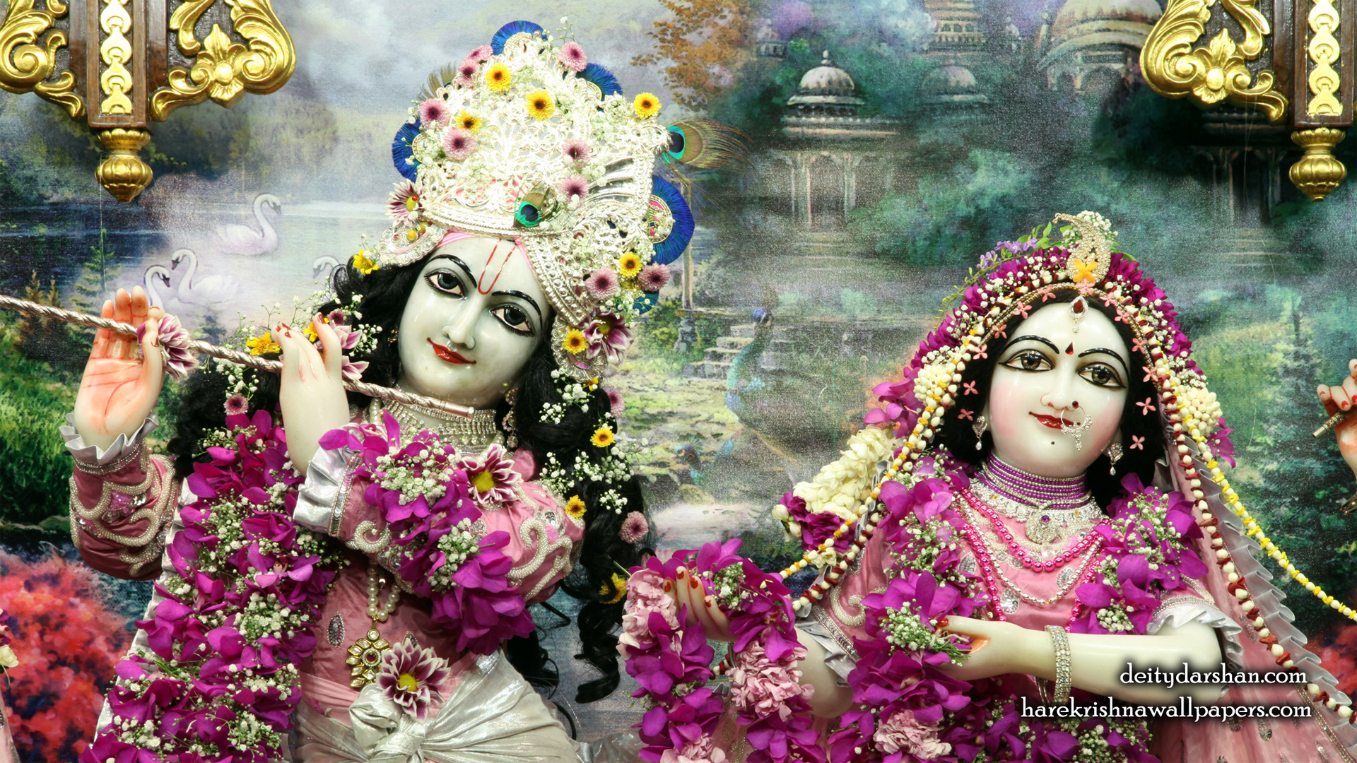 Sri Sri Radha Gopinath Close up Wallpaper (051) Size 1920x1080 Download