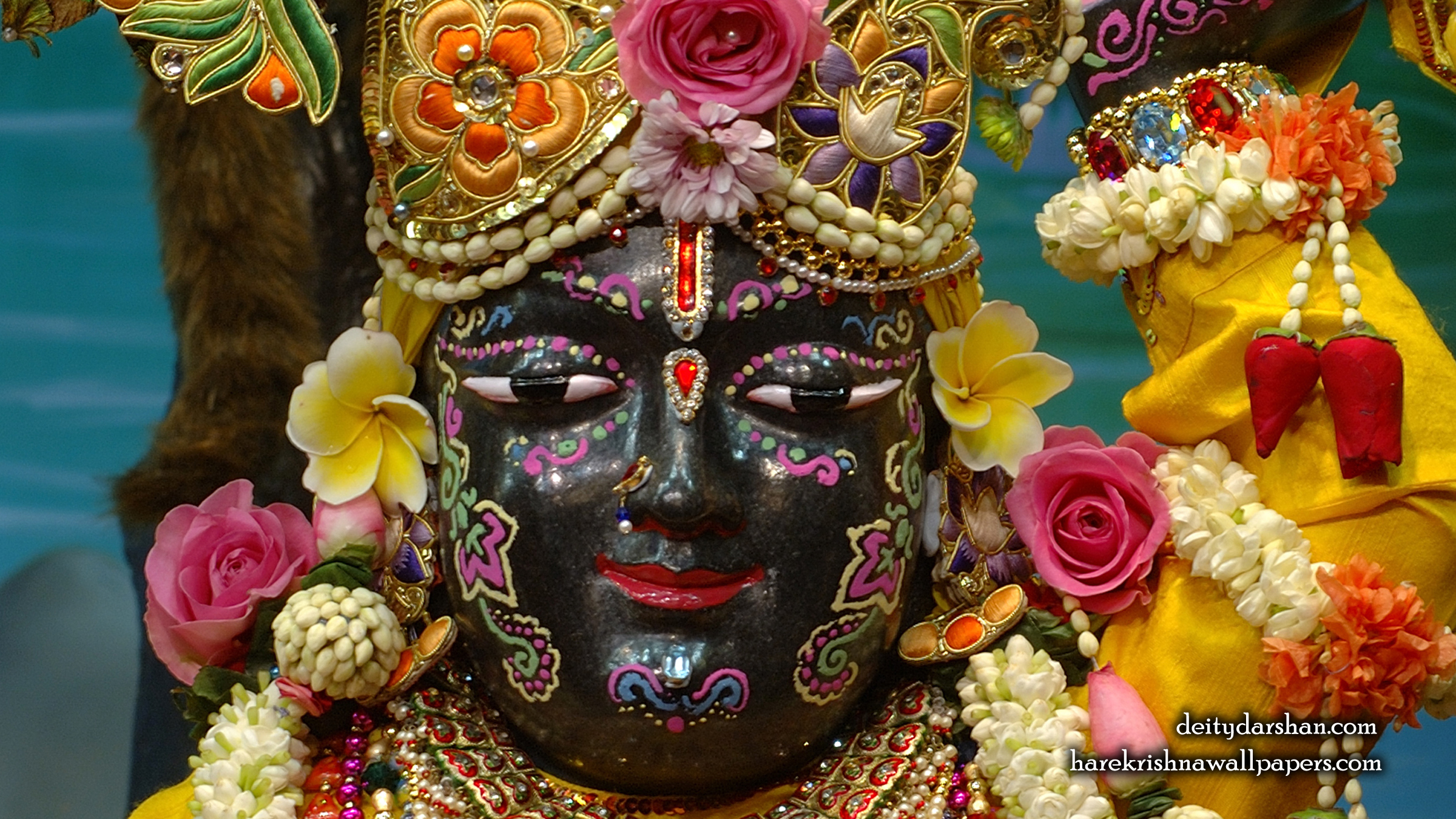 Sri Gopal Close up Wallpaper (052) Size 2400x1350 Download
