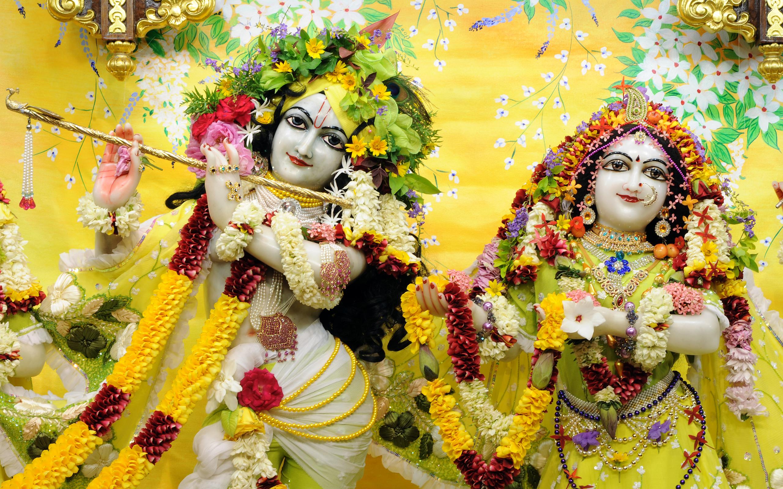 Sri Sri Radha Gopinath Close up Wallpaper (052) Size 2560x1600 Download
