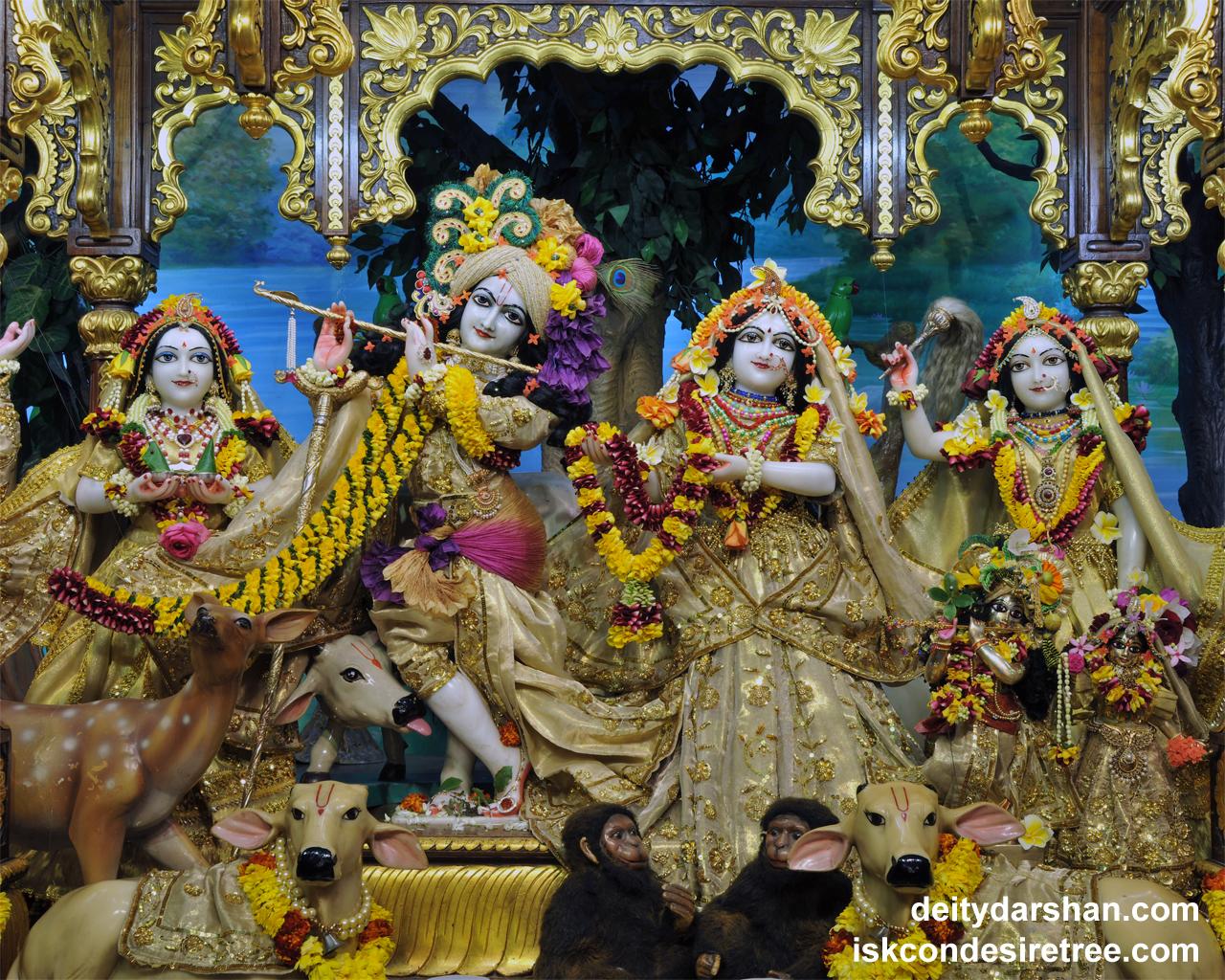 Sri Sri Radha Gopinath Lalita Vishakha Wallpaper (053) Size 1280x1024 Download