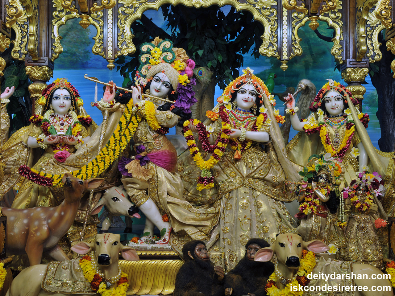 Sri Sri Radha Gopinath Lalita Vishakha Wallpaper (053) Size 1280x960 Download