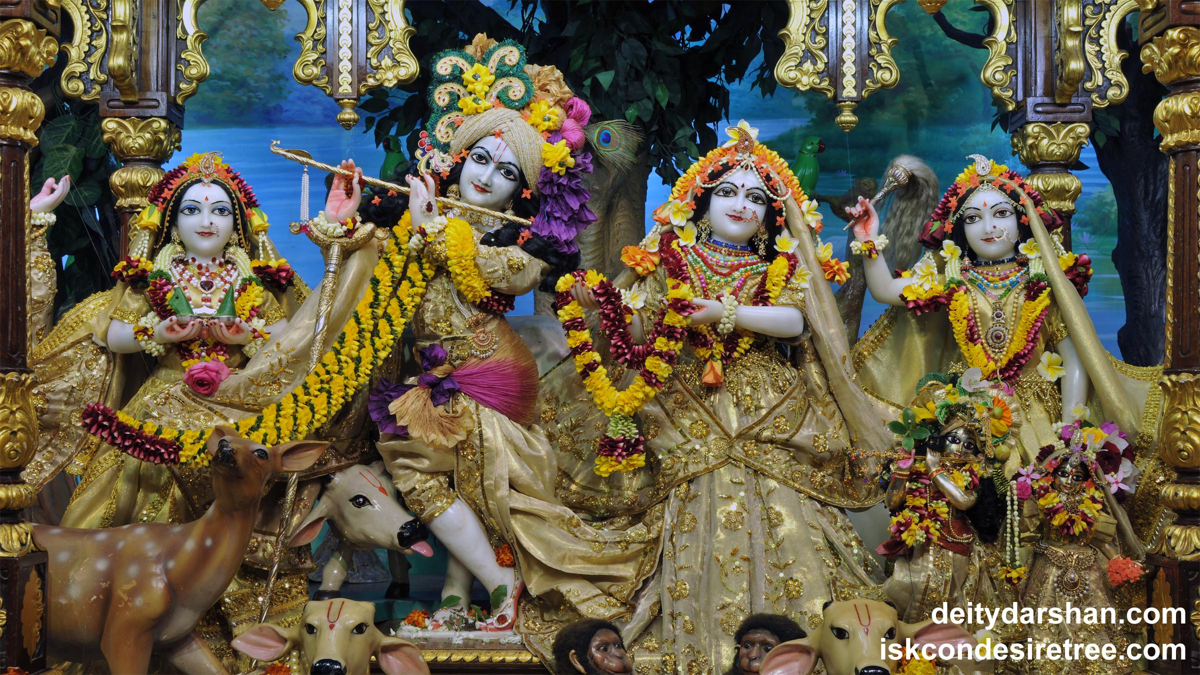 Sri Sri Radha Gopinath Lalita Vishakha Wallpaper (053) Size 2400x1350 Download