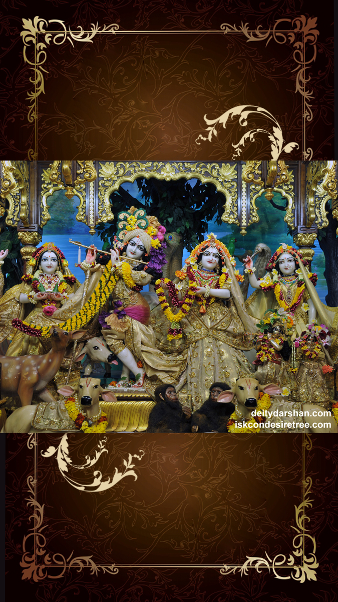 Sri Sri Radha Gopinath Lalita Vishakha Wallpaper (053) Size 675x1200 Download