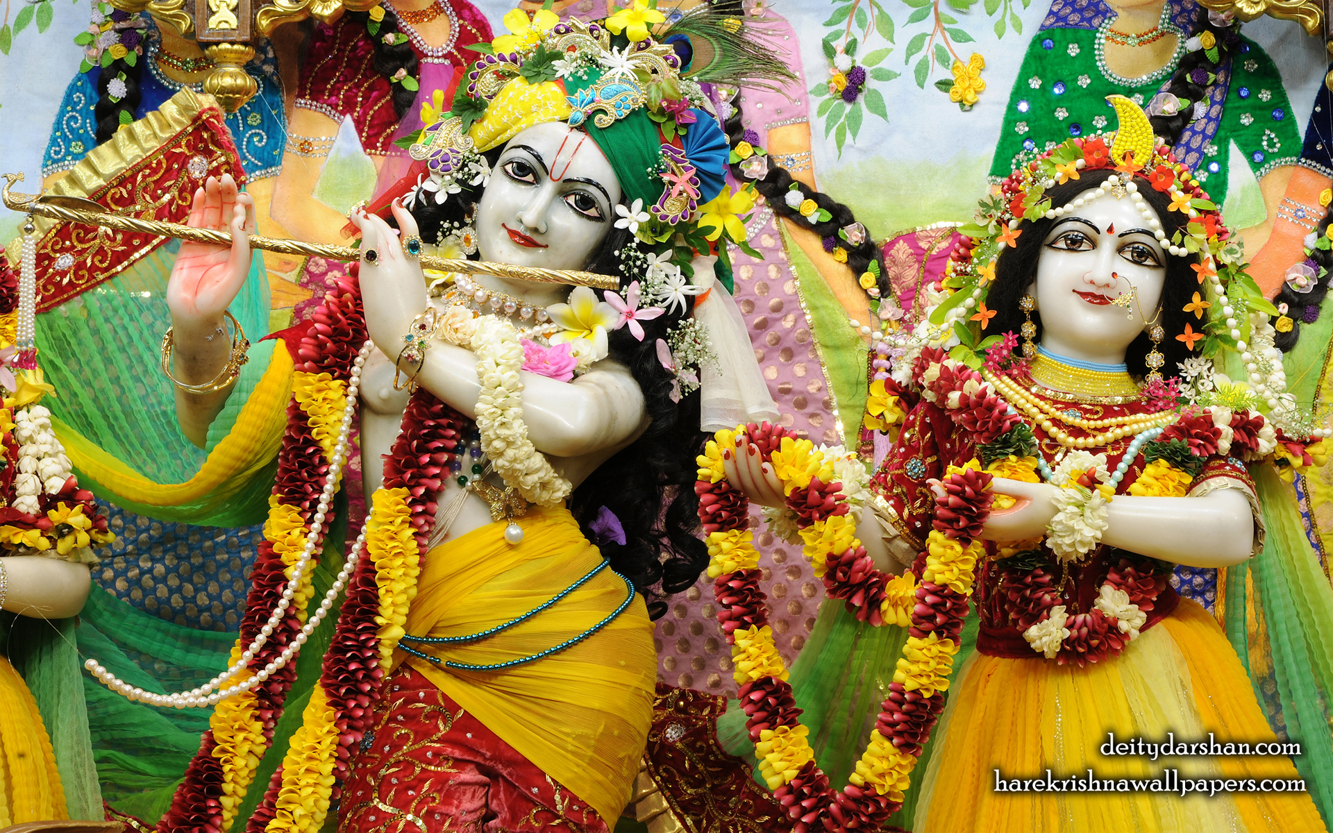 Sri Sri Radha Gopinath Close up Wallpaper (055) Size 1920x1200 Download