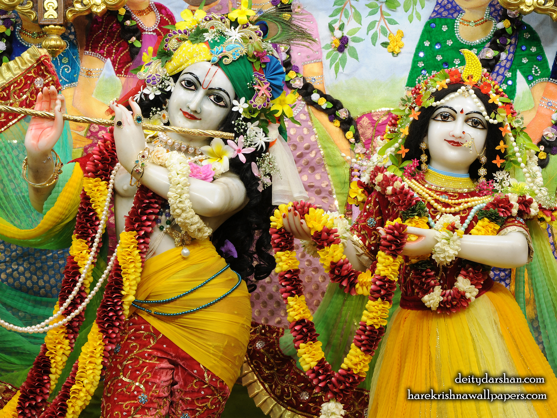 Sri Sri Radha Gopinath Close up Wallpaper (055) Size 1920x1440 Download