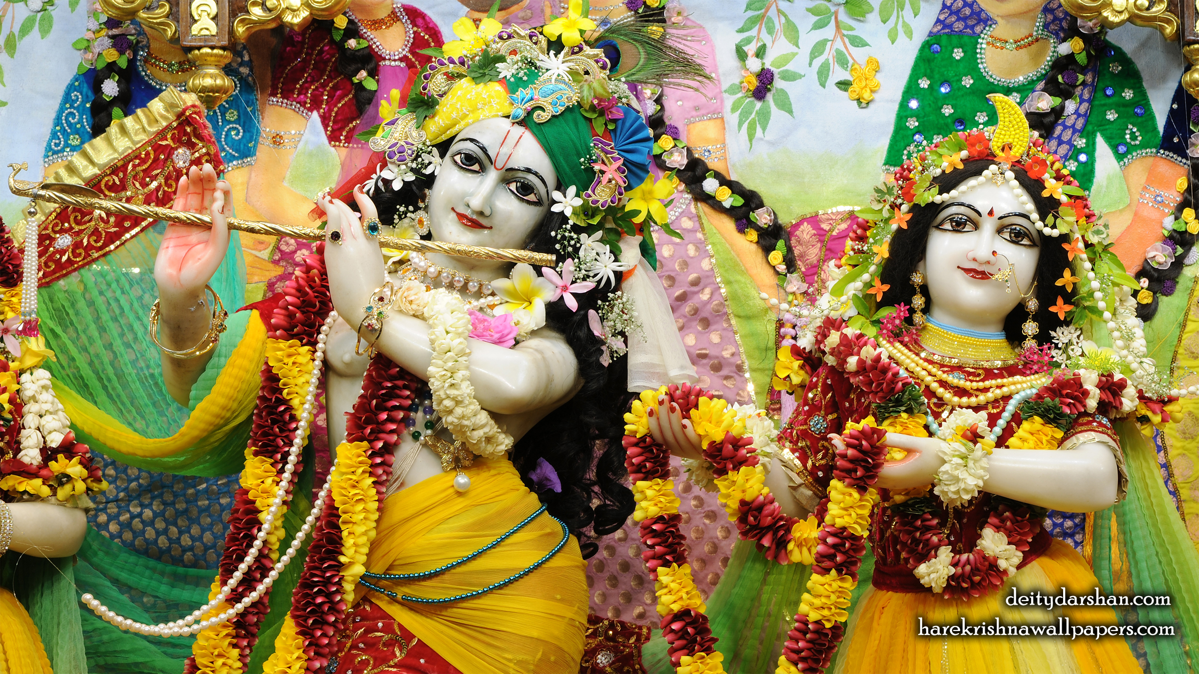 Sri Sri Radha Gopinath Close up Wallpaper (055) Size 2400x1350 Download
