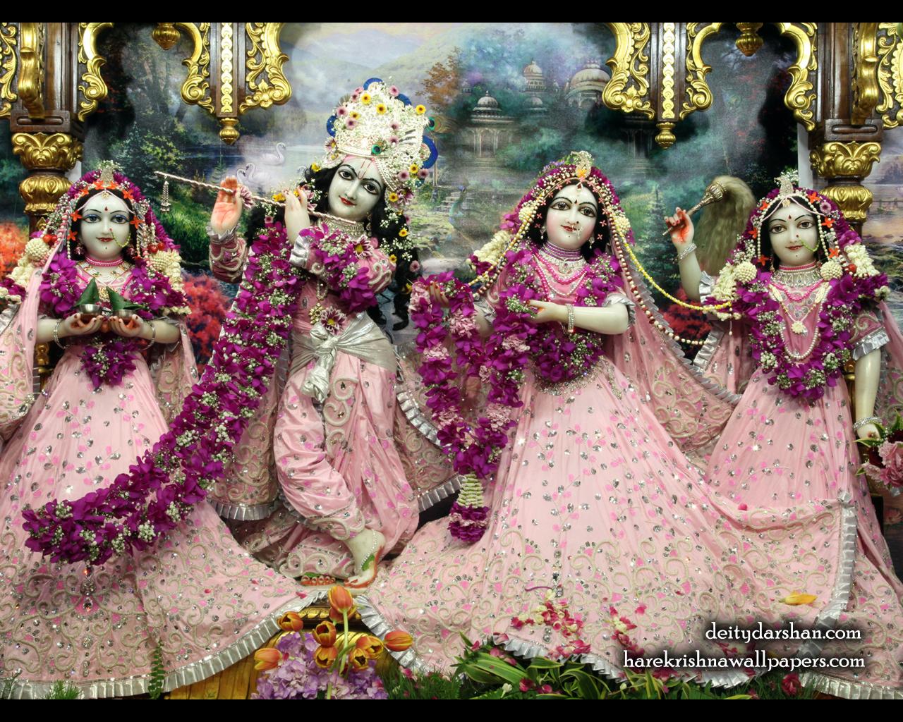 Sri Sri Radha Gopinath Lalita Vishakha Wallpaper (057) Size 1280x1024 Download