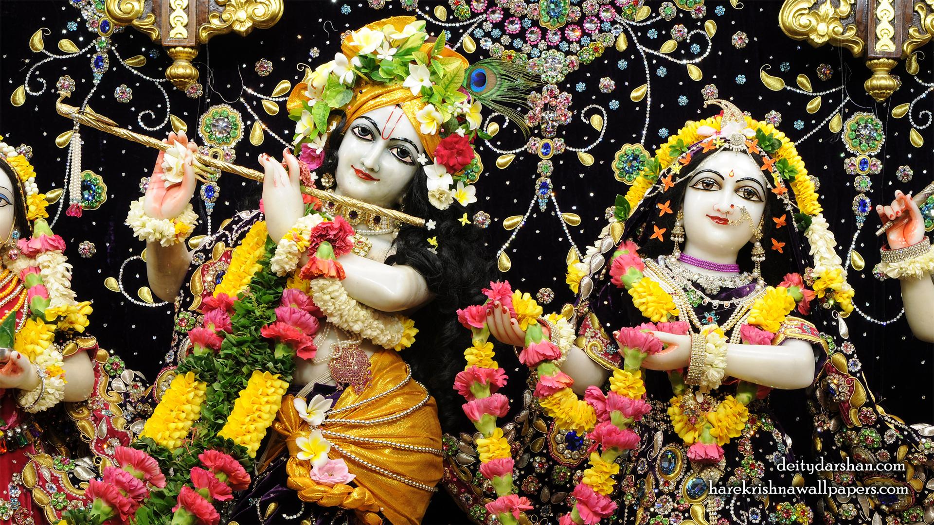 Sri Sri Radha Gopinath Close up Wallpaper (058) Size 1920x1080 Download
