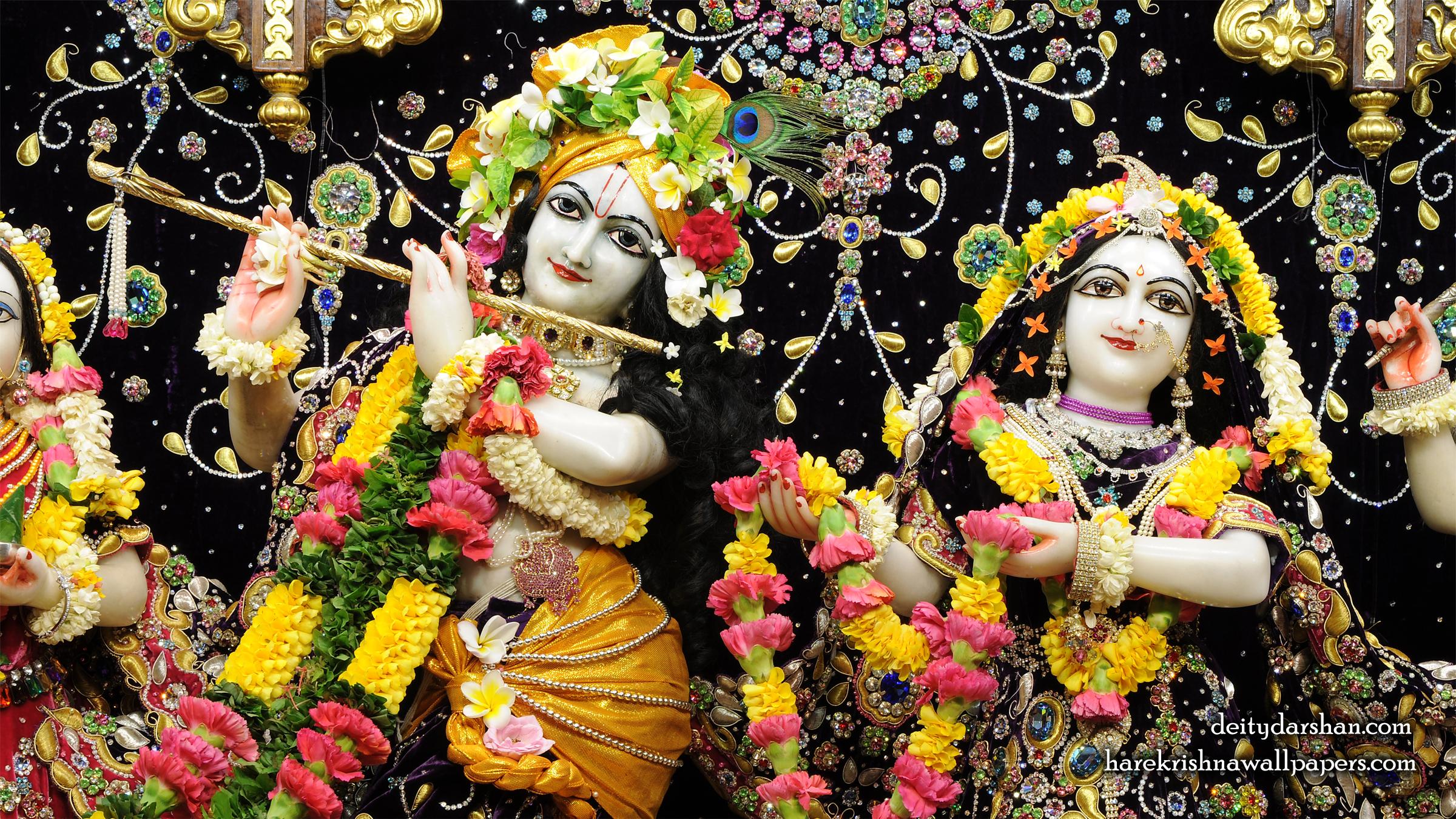 Sri Sri Radha Gopinath Close up Wallpaper (058) Size 2400x1350 Download