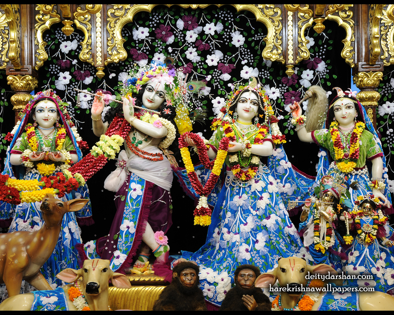 Sri Sri Radha Gopinath Lalita Vishakha Wallpaper (058) Size 1280x1024 Download