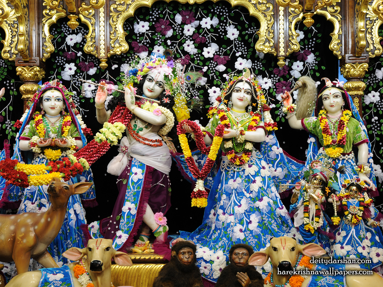 Sri Sri Radha Gopinath Lalita Vishakha Wallpaper (058) Size 1280x960 Download
