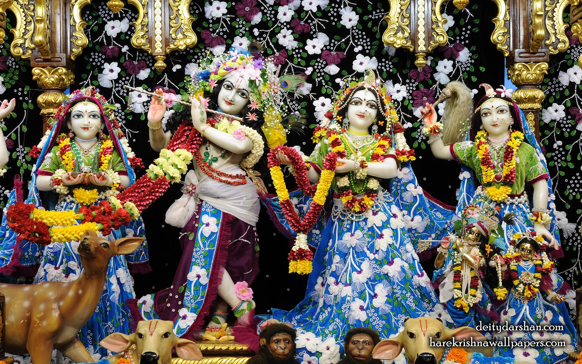 Sri Sri Radha Gopinath Lalita Vishakha Wallpaper (058) Size 1920x1200 Download