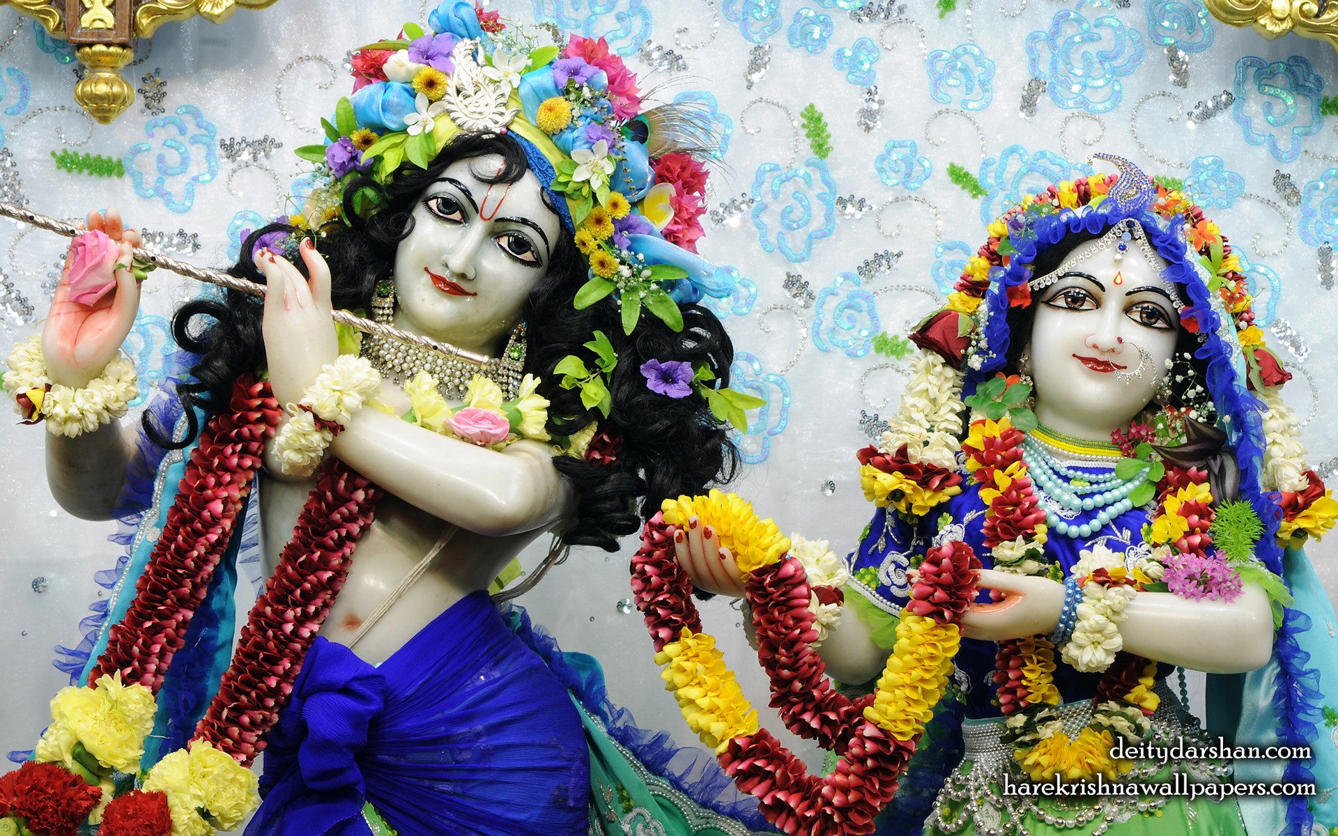 Sri Sri Radha Gopinath Close up Wallpaper (059) Size 1920x1200 Download