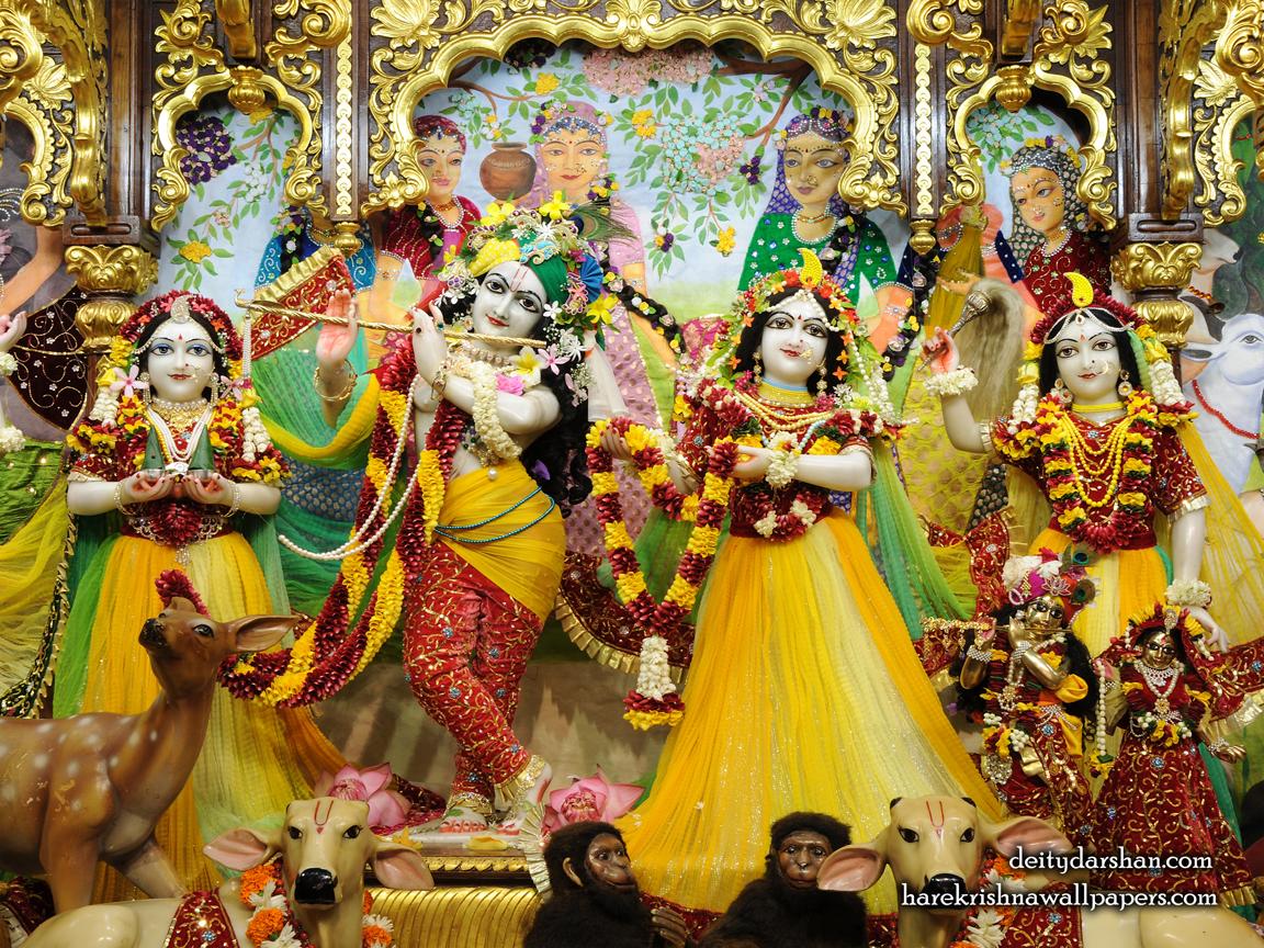 Sri Sri Radha Gopinath Lalita Vishakha Wallpaper (059) Size 1152x864 Download
