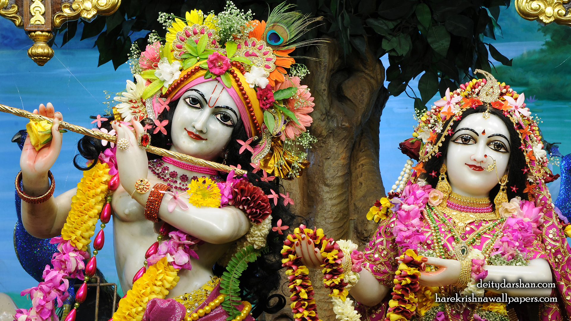 Sri Sri Radha Gopinath Close up Wallpaper (060) Size 1920x1080 Download