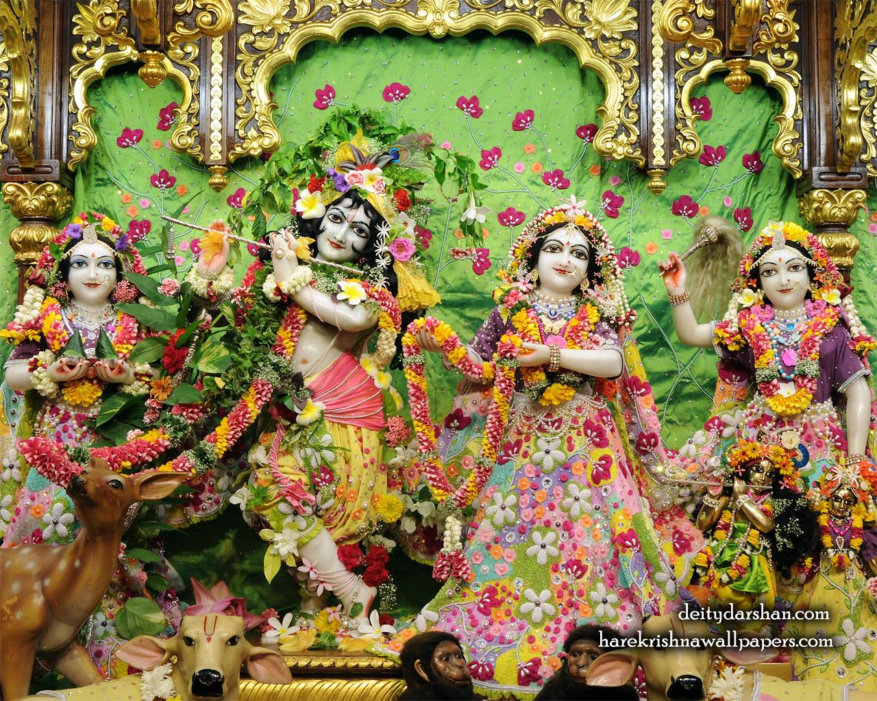 Sri Sri Radha Gopinath Lalita Vishakha Wallpaper (060) Size 1280x1024 Download