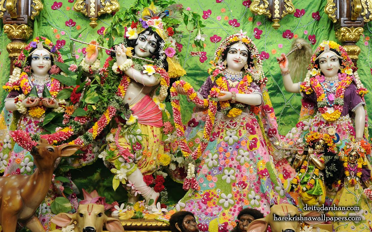 Sri Sri Radha Gopinath Lalita Vishakha Wallpaper (060) Size 1280x800 Download