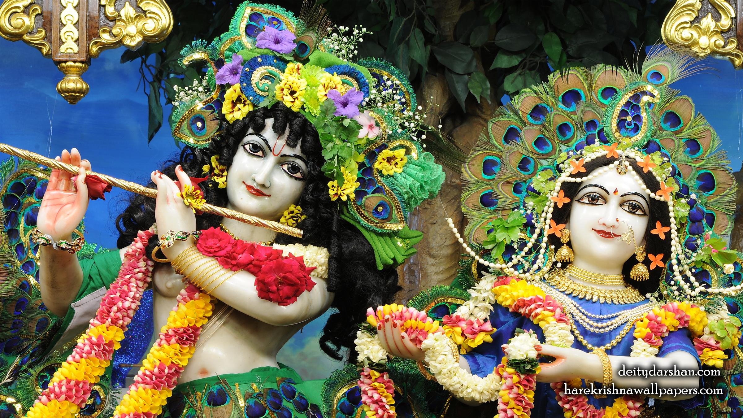Sri Sri Radha Gopinath Close up Wallpaper (061) Size 2400x1350 Download