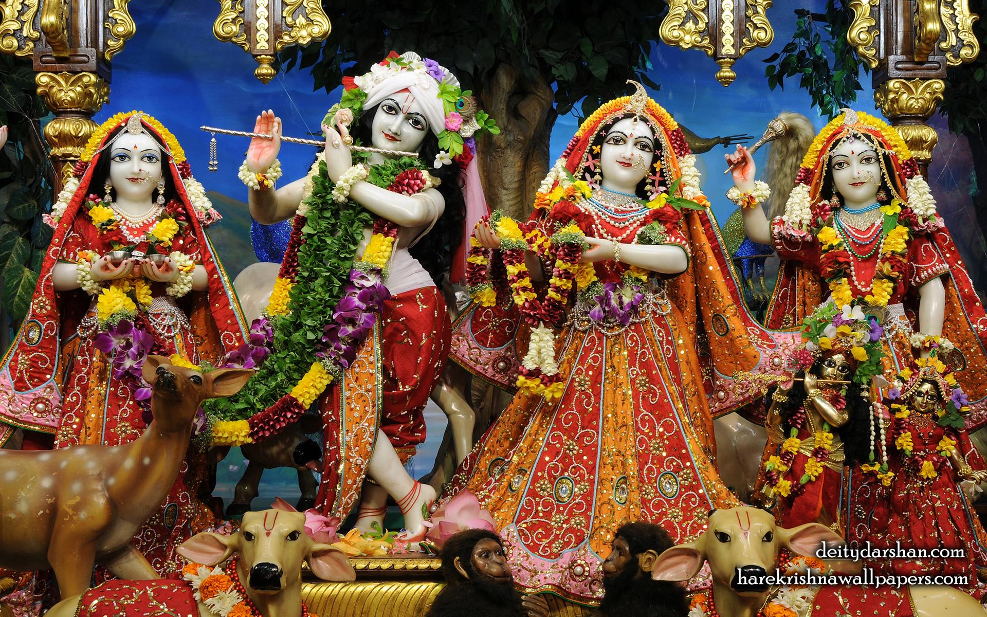 Sri Sri Radha Gopinath Lalita Vishakha Wallpaper (061) Size 1920x1200 Download