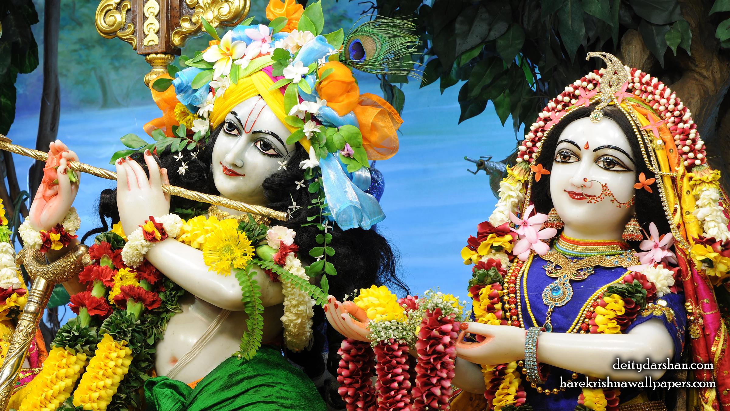 Sri Sri Radha Gopinath Close up Wallpaper (062) Size 2400x1350 Download