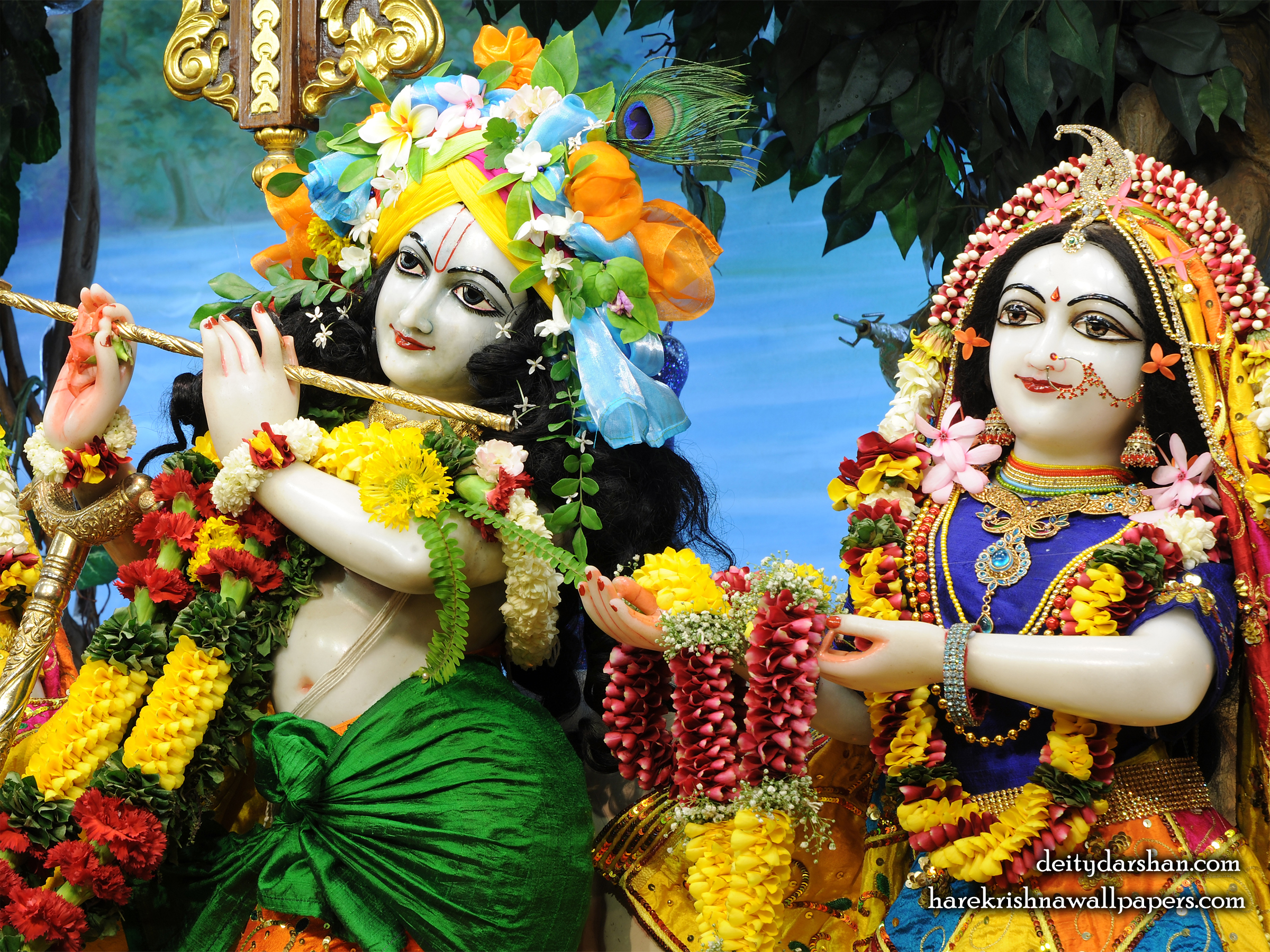 Sri Sri Radha Gopinath Close up Wallpaper (062) Size 2400x1800 Download