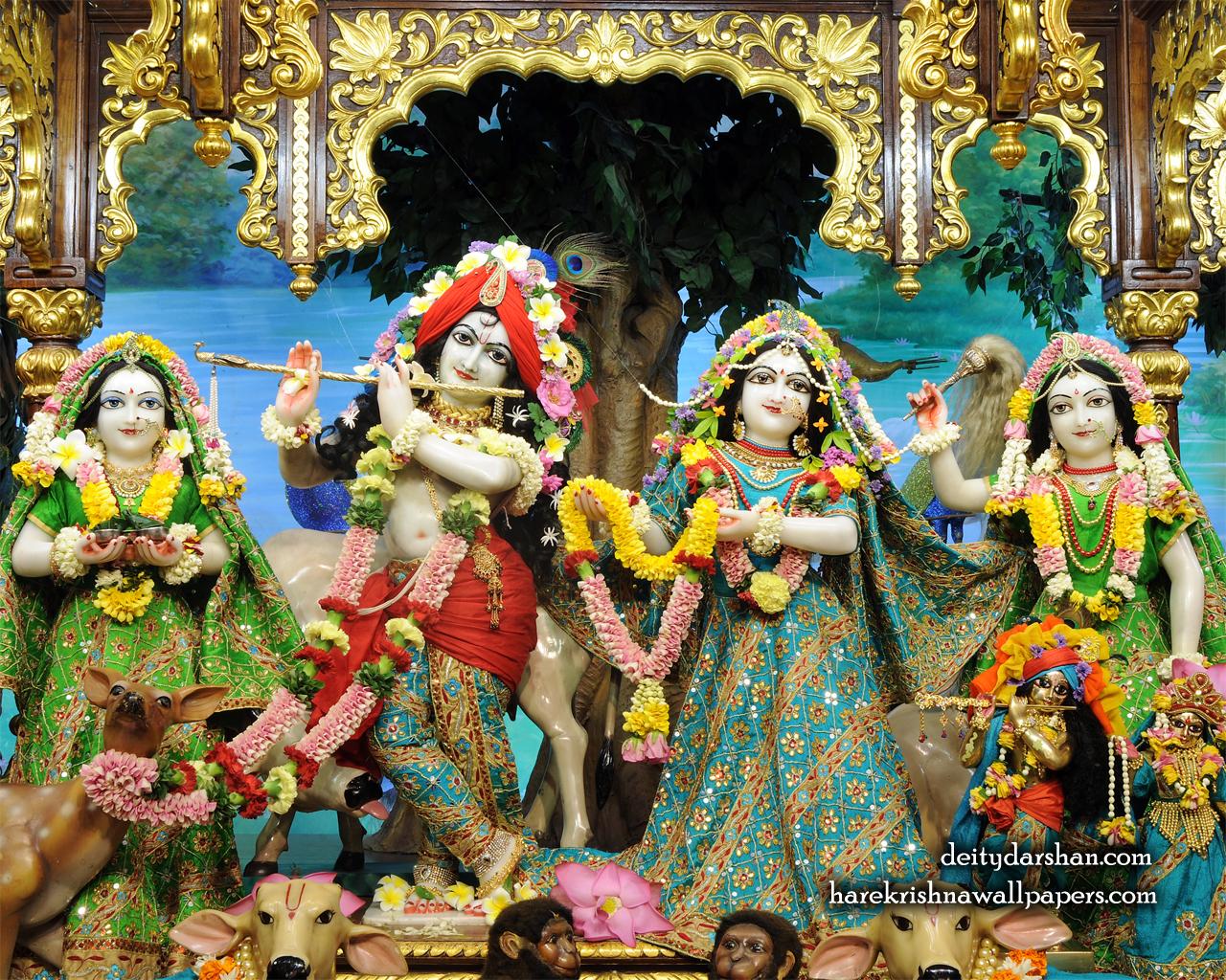 Sri Sri Radha Gopinath Lalita Vishakha Wallpaper (062) Size 1280x1024 Download