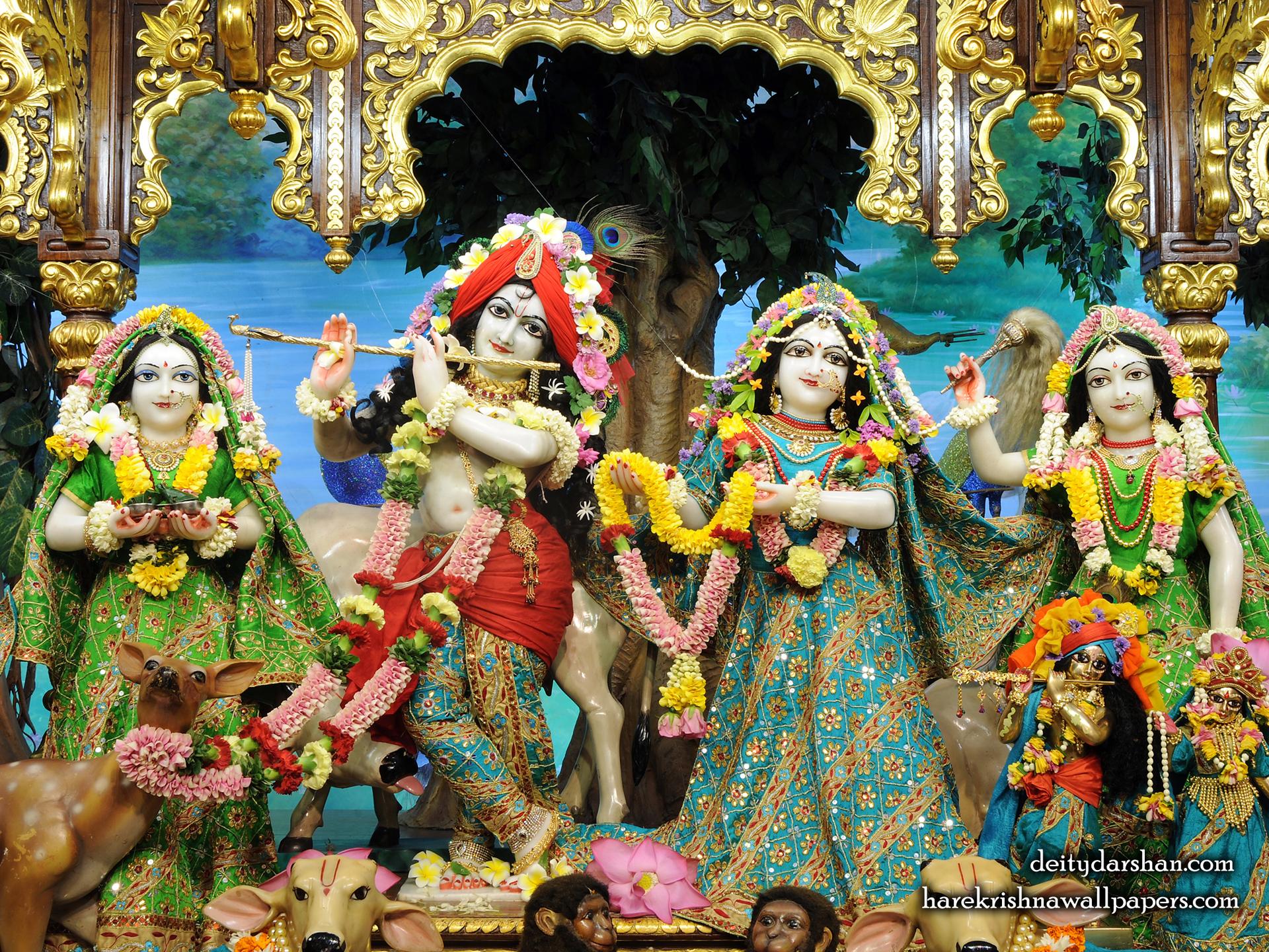 Sri Sri Radha Gopinath Lalita Vishakha Wallpaper (062) Size 1920x1440 Download