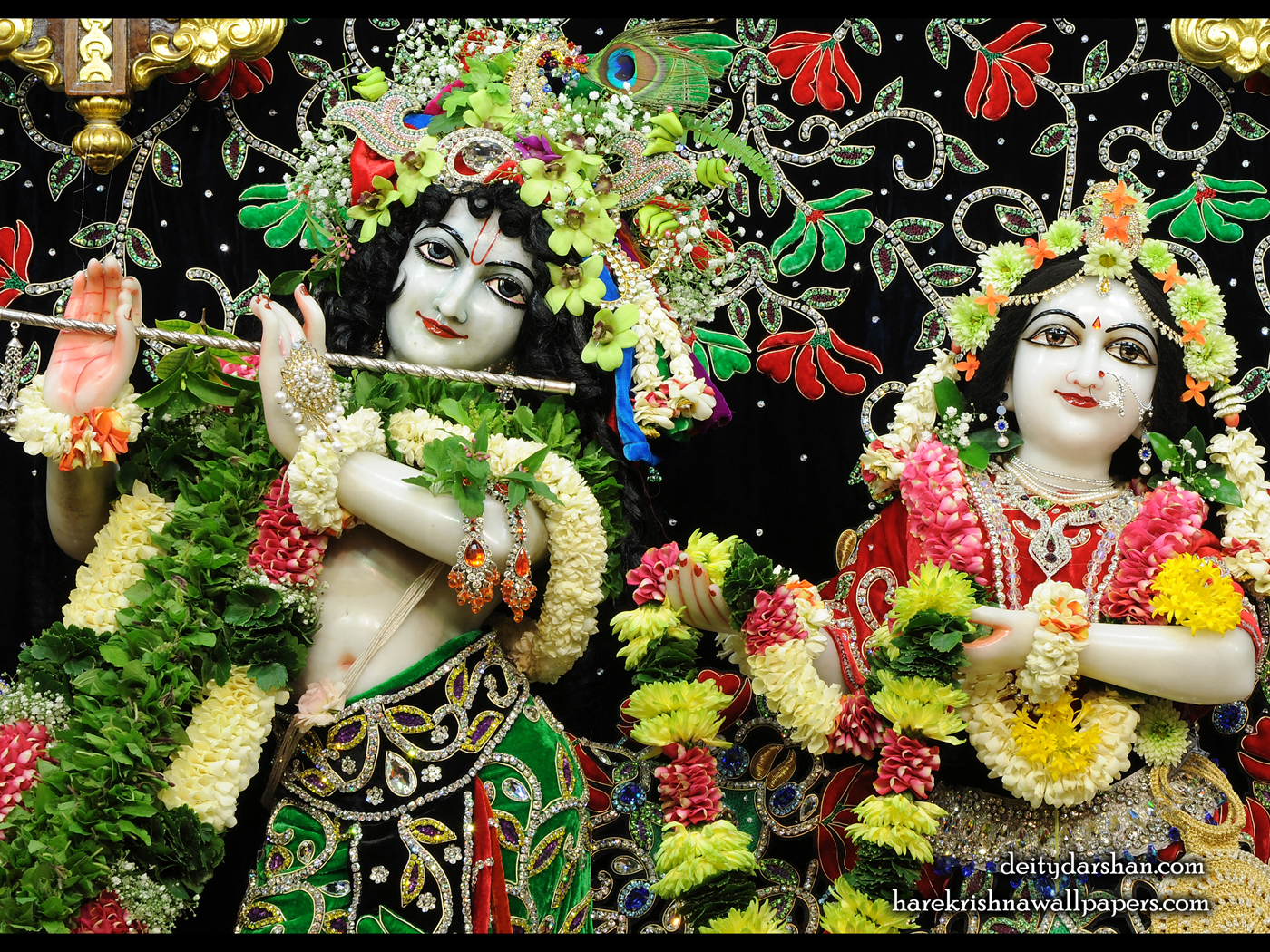 Sri Sri Radha Gopinath Close up Wallpaper (063) Size 1400x1050 Download