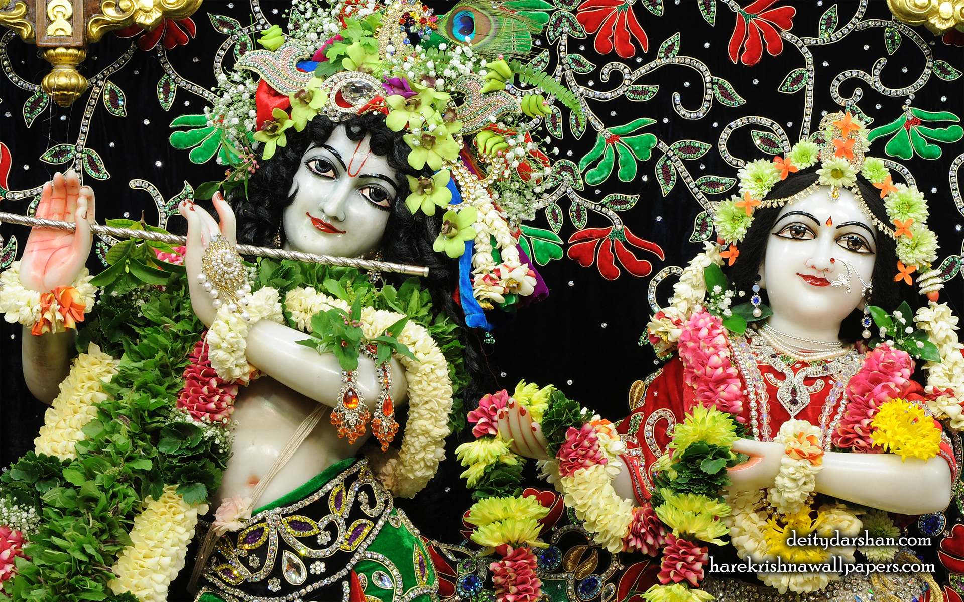 Sri Sri Radha Gopinath Close up Wallpaper (063) Size 1920x1200 Download