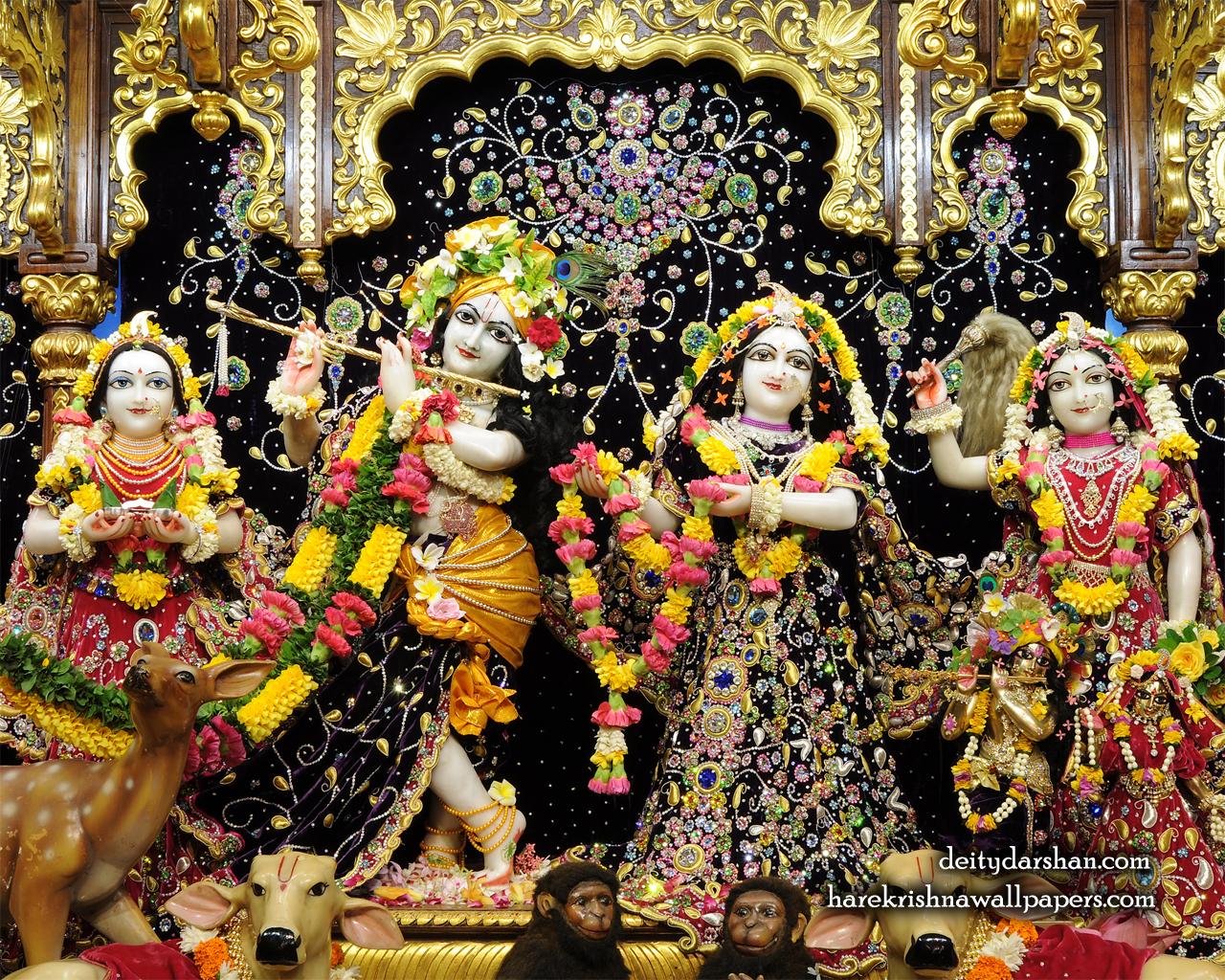 Sri Sri Radha Gopinath Lalita Vishakha Wallpaper (063) Size 1280x1024 Download