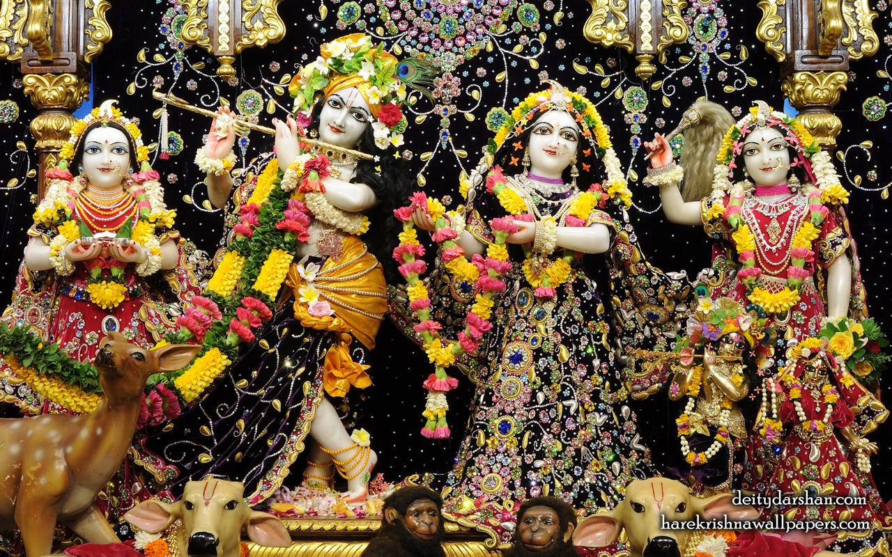 Sri Sri Radha Gopinath Lalita Vishakha Wallpaper (063) Size 1280x800 Download