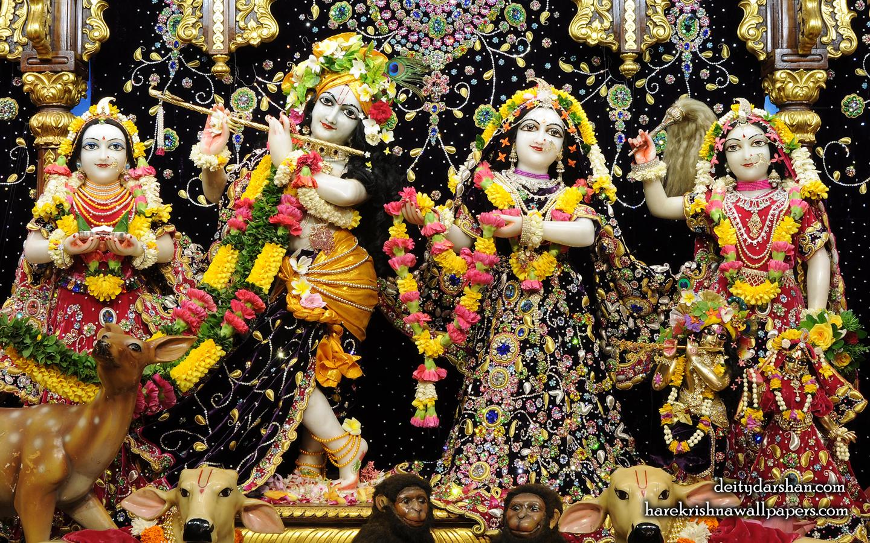 Sri Sri Radha Gopinath Lalita Vishakha Wallpaper (063) Size 1440x900 Download