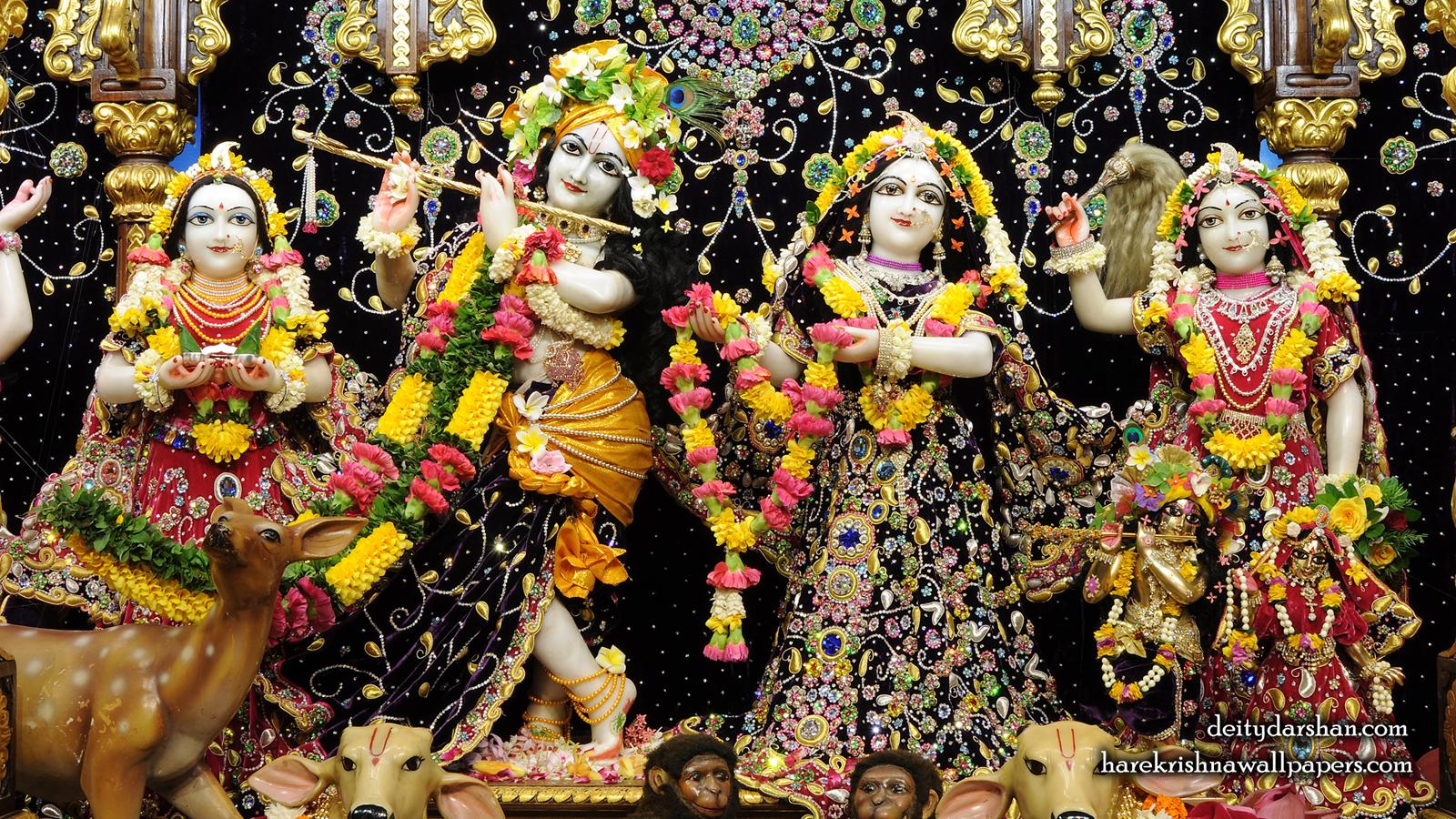 Sri Sri Radha Gopinath Lalita Vishakha Wallpaper (063) Size 1600x900 Download