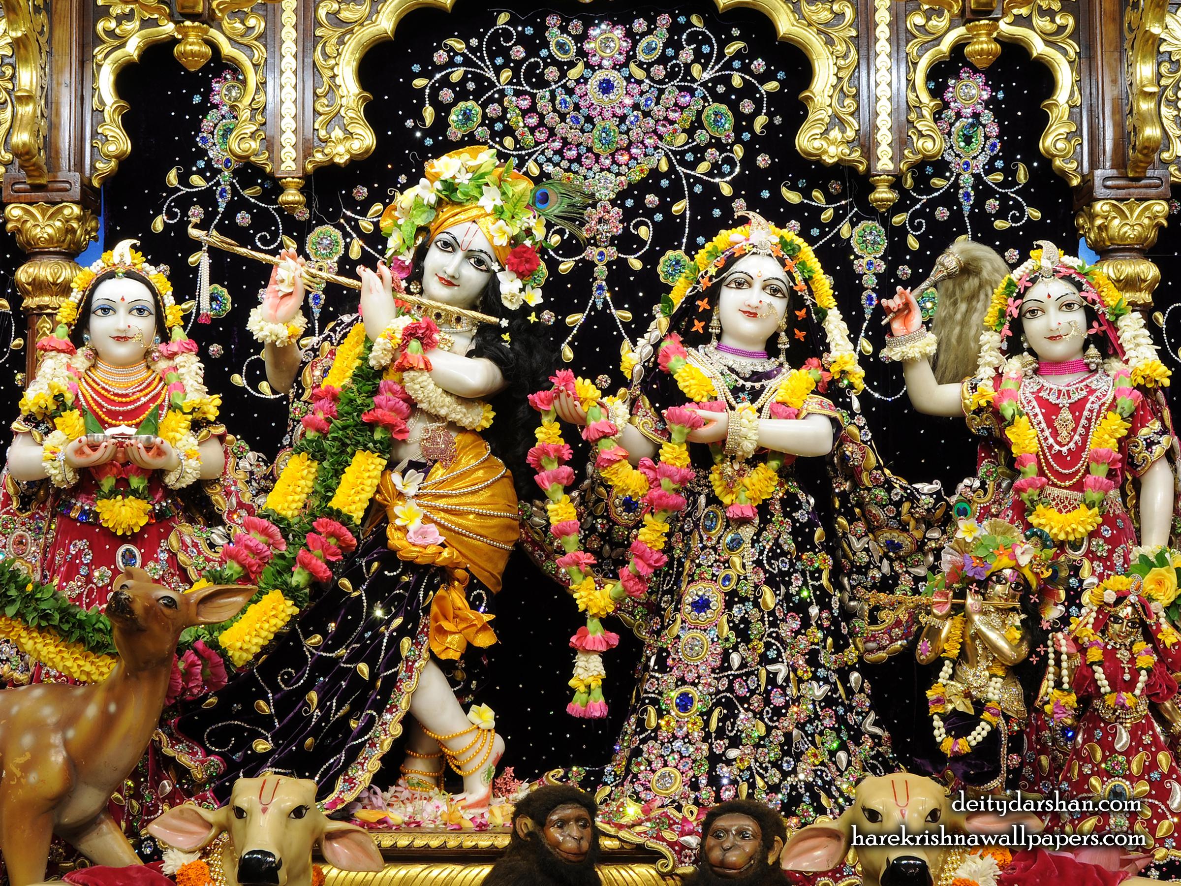 Sri Sri Radha Gopinath Lalita Vishakha Wallpaper (063) Size 2400x1800 Download