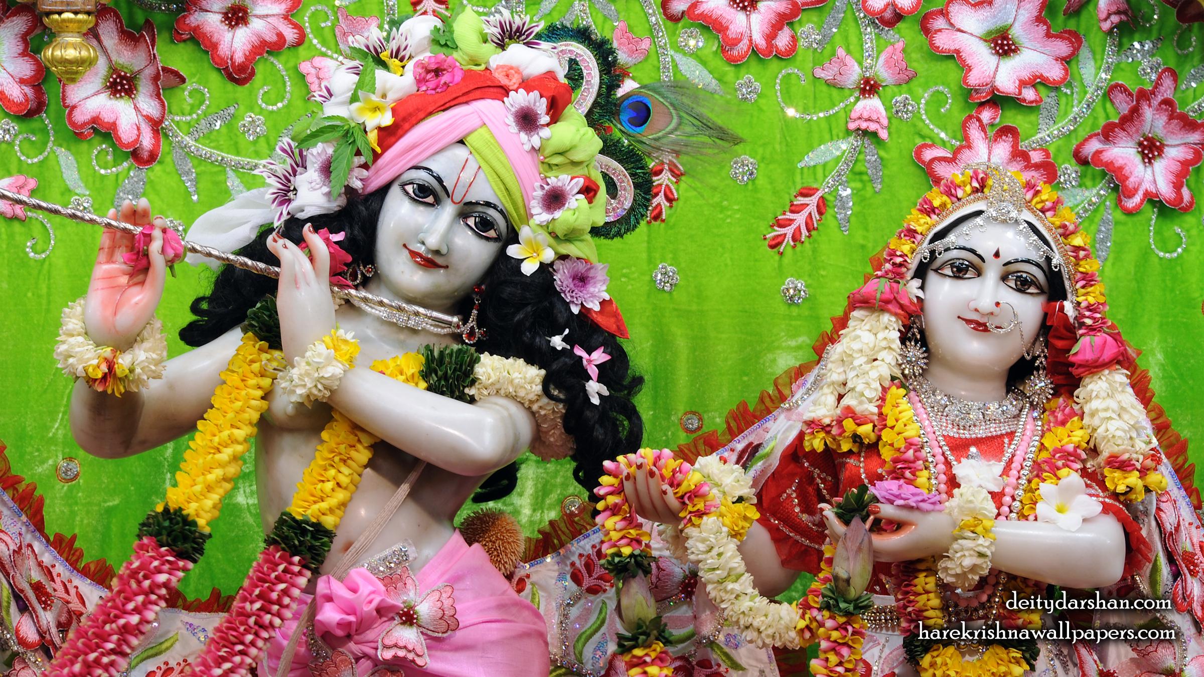 Sri Sri Radha Gopinath Close up Wallpaper (064) Size 2400x1350 Download